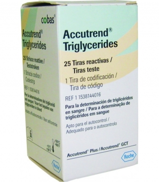 Тест-полоски ACCUTREND (Аккутренд) триглицериды №25