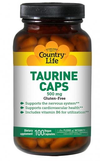Аминокислоты COUNTRY LIFE TAURINE (Таурин) 100 капсул