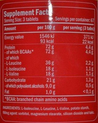 Аминокислоты FL BCAA 4400 200 таблеток