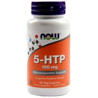 Аминокислоты NOW 5-HTP 100мг 60 капсул
