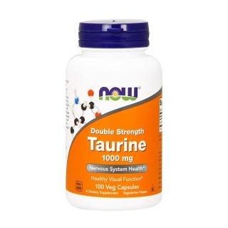 Аминокислоты NOW Taurine 1000мг 100 капсул