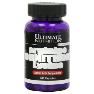 Аминокислоты UltN arginine ORNITHINE Lysine 100 капсул