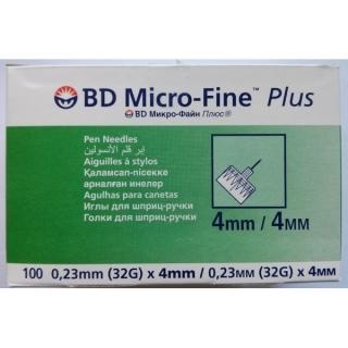 Иглы для шприц-ручек BD Micro-Fine+ 4мм - 100шт