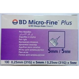 Иглы для шприц-ручек BD Micro-Fine+ 5мм - 100шт