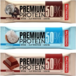Белковый батончик NUTREND Premium protein 50 bar