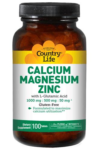 COUNTRY LIFE CALCIUM MAGNESIUM ZINC 100 таблеток