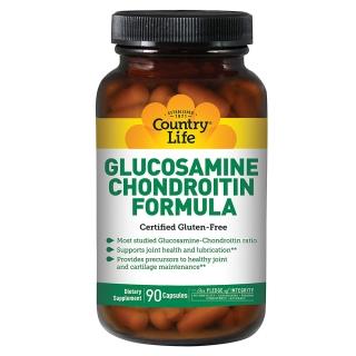 COUNTRY LIFE GLUCOSAMINE/CHONDROITIN FORMULA 90 капсул