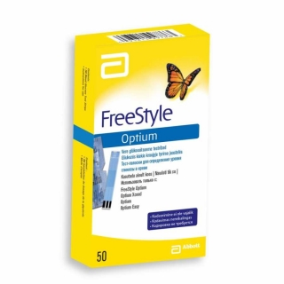 Тест-полоски FreeStyle (Фристайл) Optium 50 шт
