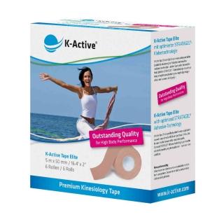 Кинезиологический тейп для лица и тела K-active Elite 5смх5м