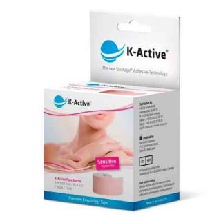 Кинезиологический тейп для лица K-active Gentle 5смх5м (БЕЗ УПАКОВКИ)