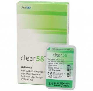 Контактные линзы Clear 58 UV (6шт)