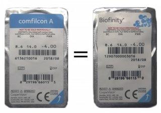 Контактные линзы Biofinity (3шт)