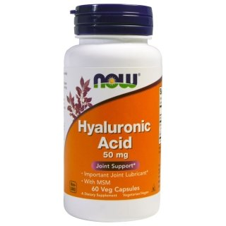 NOW Hyaluronic Acid 50мг with MSM 60 капсул