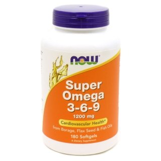 NOW Super Omega 3-6-9 1200мг 180 капсул