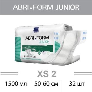 Подгузники для подростков ABRI-FORM Junior XS2 1500мл, 50-60см, 32шт