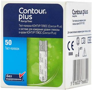 Тест-полоски Contour Plus (Контур плюс) - 50 шт