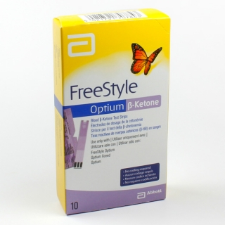 Тест-полоски FreeStyle (Фристайл) Optium b-ketone 10 шт