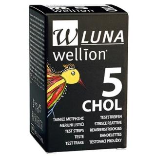 Тест-полоски Wellion (Веллион) Luna №5 холестерин