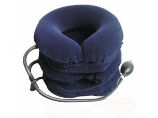 Воротник шейный с системой пневматического вытяжения синий 3-ходовый