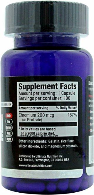 Жиросжигатель UltN Chromium Picolinate 100 капсул